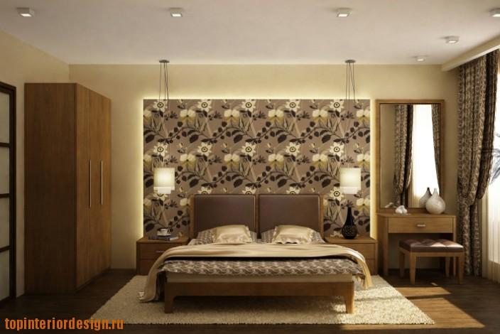 Дизайн комнаты в коричневых тонах Фото дизайна.
