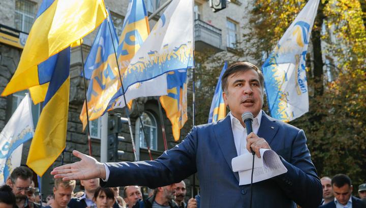 Саакашвили в центре Киева грозит властям Украины