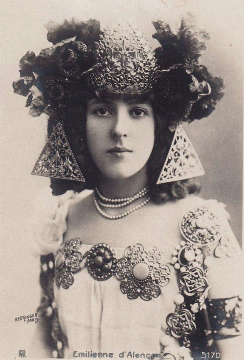Эмильена д'Алансон - французская актриса и танцовщица, звезда Прекрасной эпохи. женщины, интересное, исторические фото, история, куртизанки, факты, фото