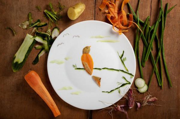 A tribute to budgie. Проект из продуктов питания.