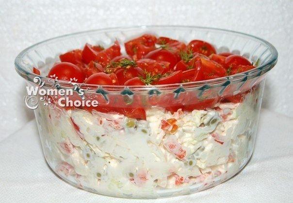 """Салат """"Красная шапочка"""". Вкусный и сочный салатик!"""
