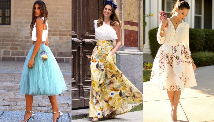 Модный обзор -- юбки с завышенной талией