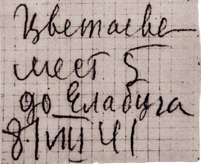 По этому билету Цветаева с сыном сели на пароход до Елабуги