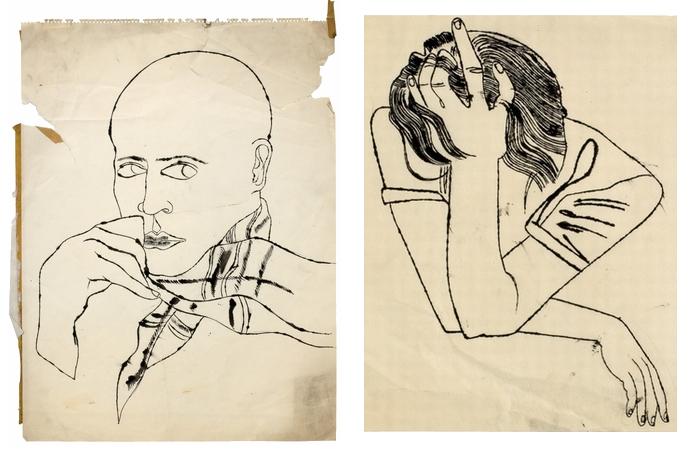 Записная книжка гения: малоизвестные рисунки Andy Warhol