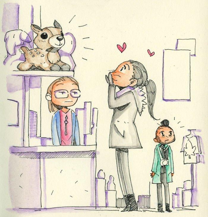 Магазин подарков Любовь, история, комикс, любовь на расстоянии, рисунки, романтика, творчество, художник