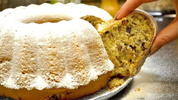 Творожный кекс с орехами рецепт