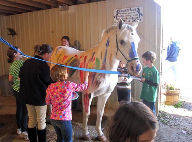 """""""Дети, тема урока – рисование на лошади!"""" Жестокое обращение с животными тоже бывает разным"""
