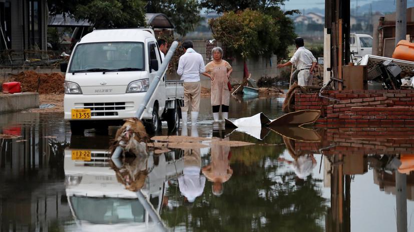 Наводнении в Японии: Трамп выразил соболезнования семьям погибших