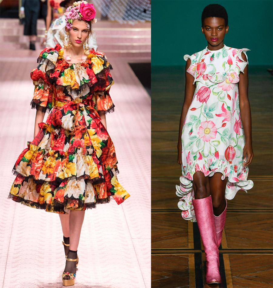 Красивые платья с цветами