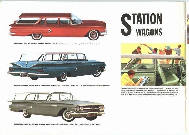23. 60-е годы, автомобили, легковой автомобиль, старые машины, старые фото, сша, универсал, фургон