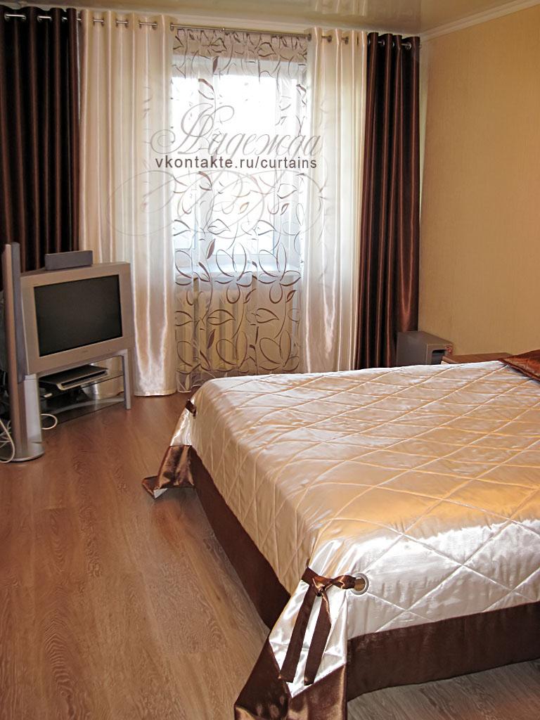 Дизайн комплектов штор в спальню