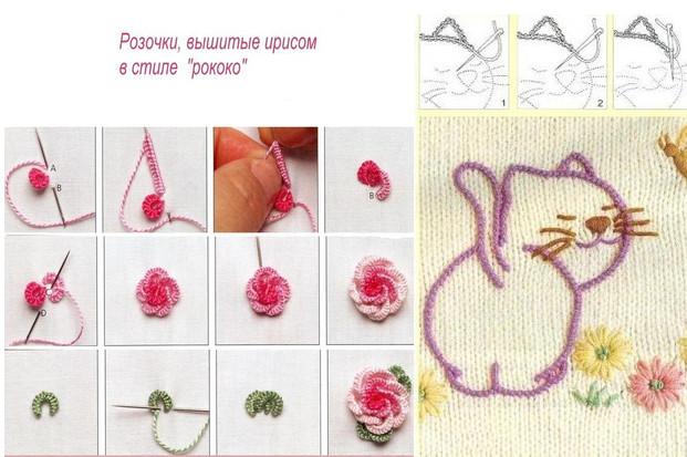 Вышивка по трикотажу схемы фото