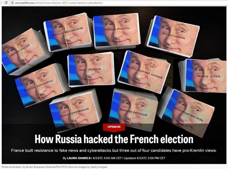 Западные СМИ нашли «руку Кремля» во французских выборах ещё до их завершения