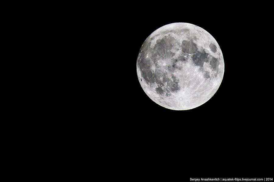 Большая луна или Суперлуние?