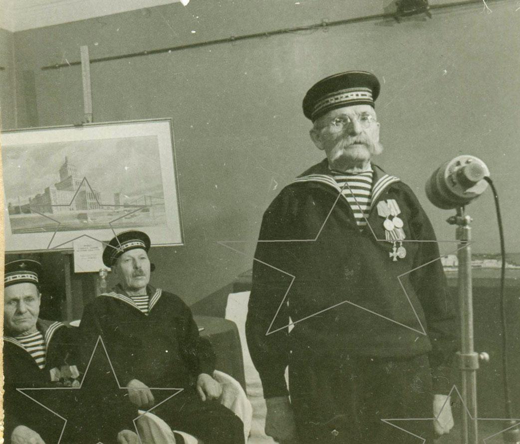 Моряк-ветеран крейсера «Варяг» Адольф Доминикович Войцеховский.