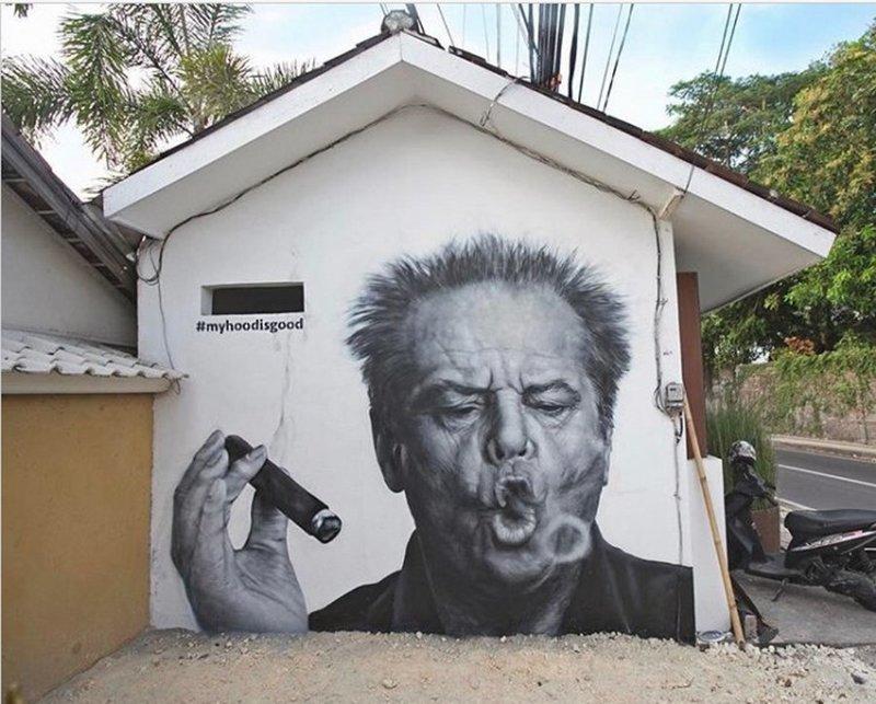 Hood Graff - вот что значит качественный стрит-арт