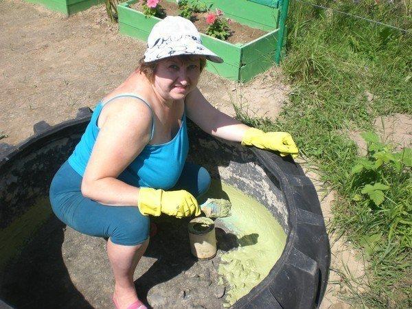 Как сделать фонтан из шин своими руками 1073