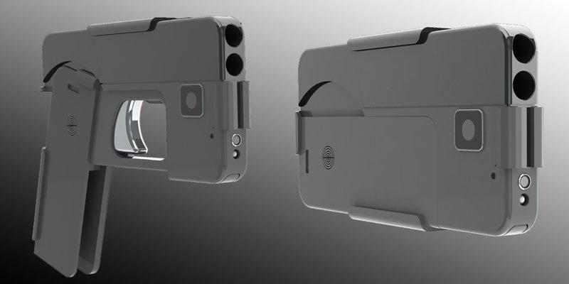 Пистолет в виде смартфона (6…