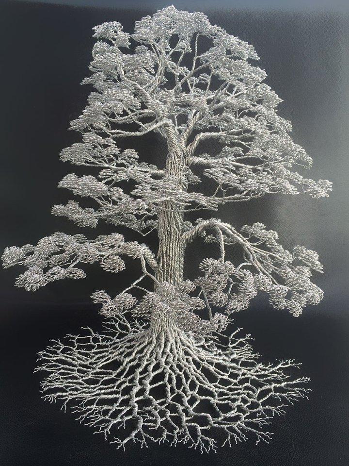 скульптуры деревьев из проволоки клайв мэдиссон (2)