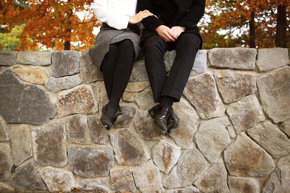 Пары, Собственной Свадьбы, Брак, Осень