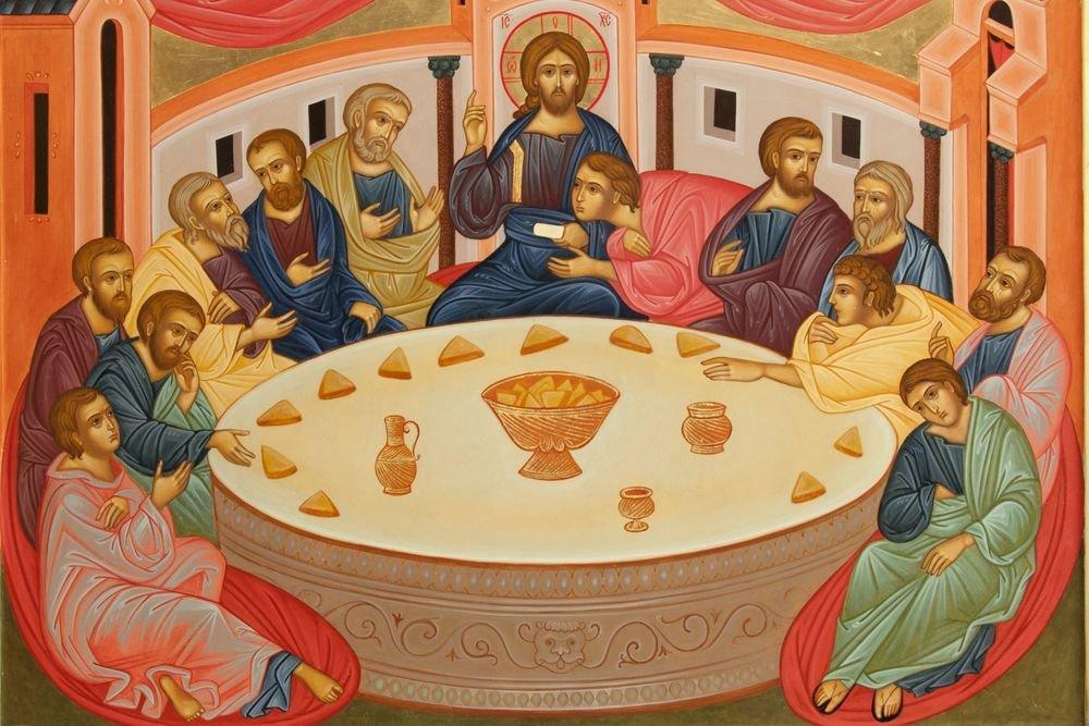 """""""Тайная вечеря"""", иконописная мастерская Свято-Троицкого храма г. Курска."""