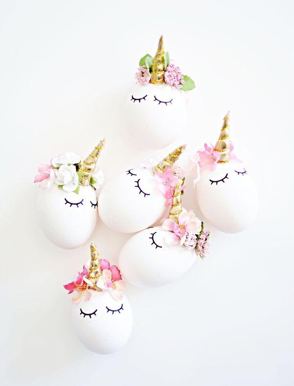 пасхальные яйца в виде единорога