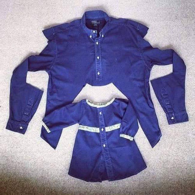 МК — превращаем старые рубашки в очаровательные летние платьица для девочки