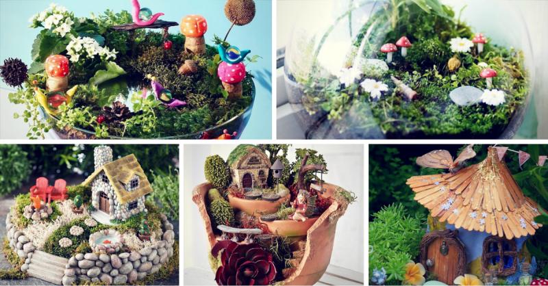 Миниатюрный сад: потрясющие проекты!