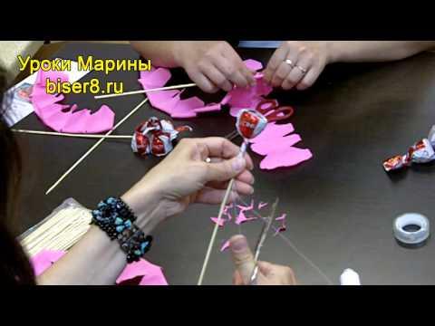 Экспресс Мастер-Класс букет из конфет за 30м