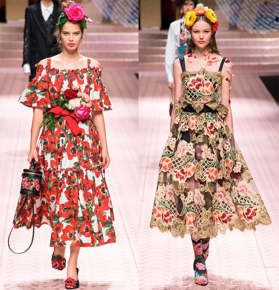 Красивые платья Dolce & Gabbana