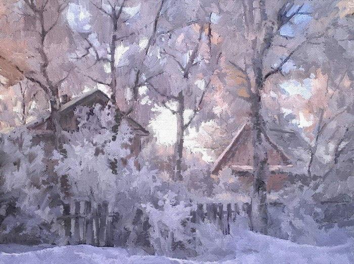 Морозным вечером