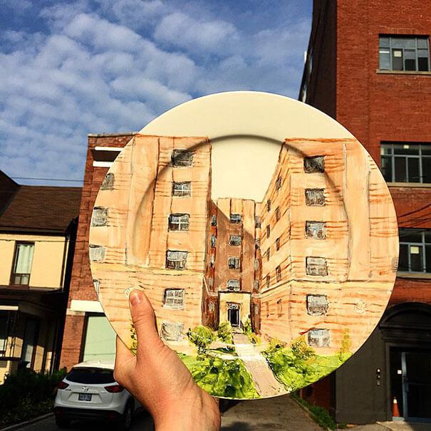 Невероятно реалистичные рисунки на тарелках художницы Жаклин Пуарэ