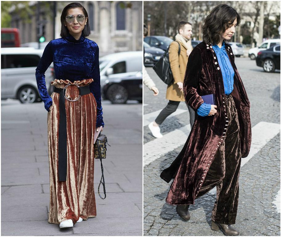 Как носить вещи из вельвета и бархата