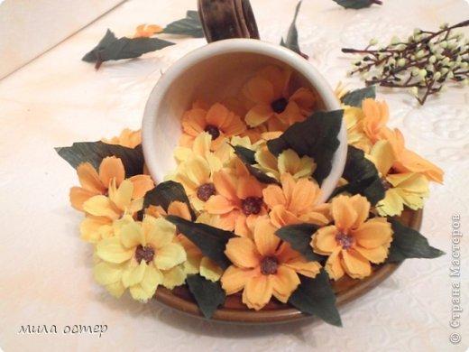 Мастер-класс Поделка изделие Флористика День рождения Цветочная кружечка Клей фото 13