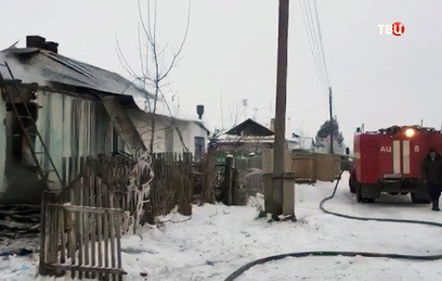Пожар в Новосибирской области унес жизни пятерых детей