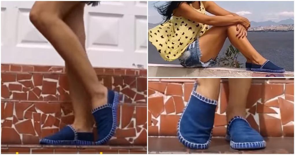 Мастерица нашла отличное применение старым джинсам