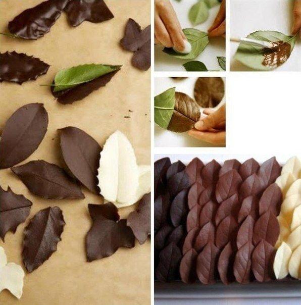 листья шоколад (596x604, 100Kb)
