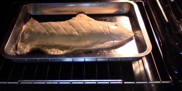 рыба в тесте с овощами