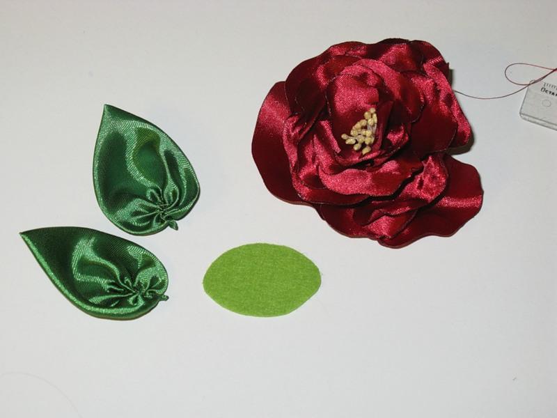 Сшить цветы из атласных лент
