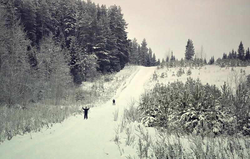 Жарко ? охладитесь вспомните зиму . Пермский Край и тишина Зима 2016-2017, красота, лес