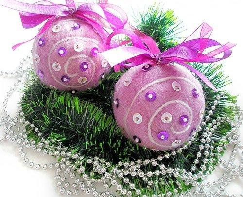 Елочные шары - необычный декор своими руками!
