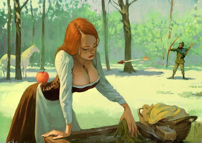 Соблазнительные девушки и суровая реальность на иллюстрациях художника из России