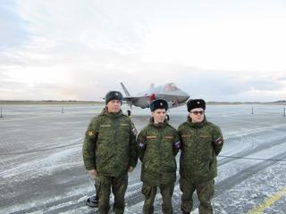 Российским военным впервые показали истребители F-35