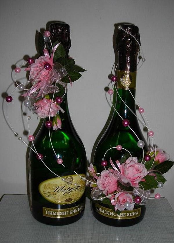 Оформляем шампанское к дню рождения своими руками