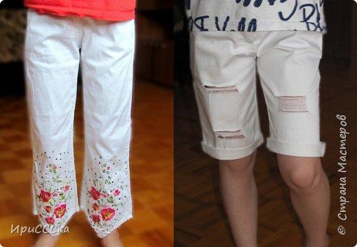 Будем делать модные рваные шорты из старых джинсов. фото 1