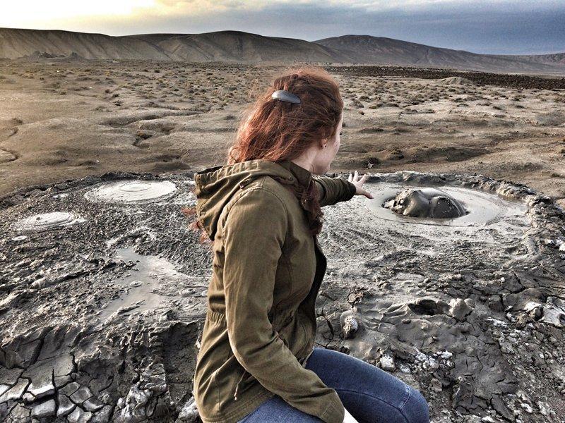 Грязевые вулканы Гобустана, Азербайджан марс, марсианские пейзажи, необычная местность, пейзажи, похоже на Марс, странная местность
