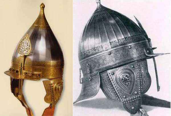 шлем Мехмета Соколлу и шлем Стефана Батория