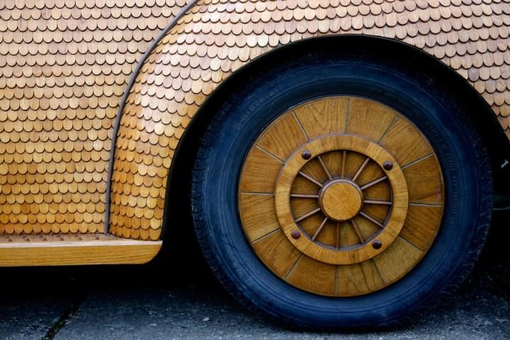 Volkswagen жук 1972 года из дерева (3)