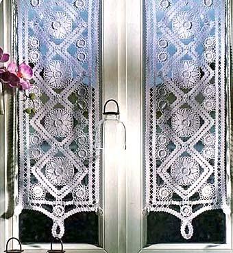 Вязаные шторки для кухни: примеры красивого дизайна.