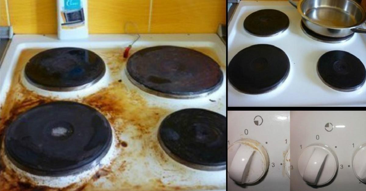 5 лучших домашних средств для очистки плиты. Она будет блестеть как новая